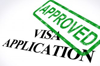 Visa Application Approved Stamp Showing Entry Admission Authorized